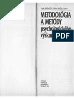 Mikšík Maršálová Metodológia a Metódy Psychologického Výskumu - Kniha