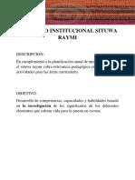 Proyecto Institucional Situwa Raymi