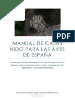 Manual de Cajas Nido Para Las Aves de España