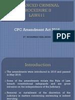 LAW611 Amendment CPC