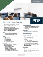 NSE 1 Master Course Description 2018Q1