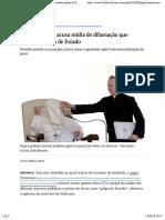 Papa Francisco acusa mídia de difamação que fomenta golpes de Estado - 17:05:2018 - Mundo - Folha