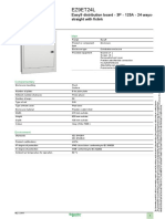 Easy9_EZ9ET24L Consumer Unit Specification Sheet