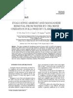 Remocion de Arsenico y Manganeso en Agua