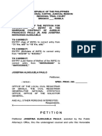 Correction of Entry Josefina Paulo