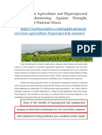 Precision Agriculture and Hyperspectral Sensors