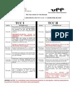 Cronograma de TCC I e II 2017.2