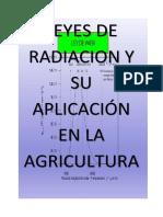 Leyes de Radiacion y Su Aplicación en La Agricultura