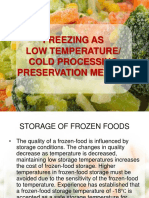 5 Freezing as Low Temperature Cold Processing Preservation Method