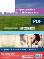 STUDIU - Dinamica Si Perspectiva Domeniului CSR in Romania 2018