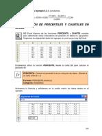 Aplicaciones de Percentiles y Cuartiles en Excel
