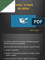 Gênero e-mail (Carta do Leitor)