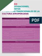 Encuentro de Investigaciones Sobre Cultura Afroperuana- 2018