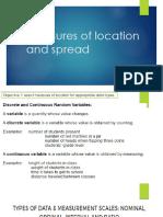 Measures of Location & Spread-Module2