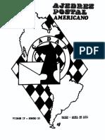 Ajedrez Postal Americano - Volumen Nº IV - Nº 20 - 1973