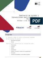 BILBAO Seminario Ayudas y Subvenciones 2018
