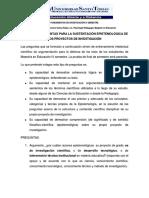 Preguntas de Investigacion Varias