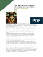 Historia de Juan El Bautista