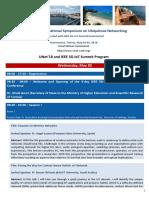 UNet2018 Detailed Program