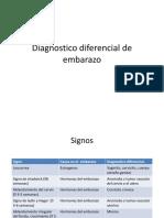 Diagnostico Diferencial de Embarazo