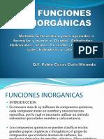 FUNCIONES INORGANICAS