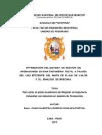 OPTIMIZACION DEL SISTEMA DE  GESTION DE OPERACIONES CON LEAN MANUFACTURING