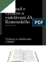 10 Zásad o Výchove a Vzdelávaní JA Komenského (1)