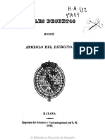 Reales Decretos Sobre Arreglo Del Ejército - 1828