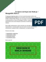 Microserviços - Mongodb e Nodejs 2