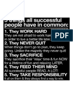 5 Things Successful People Have in Common...