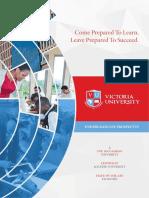 Victoria University Prospectus