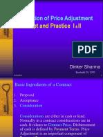 Price Adjustment Concept and Practice I & II