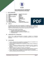CB-401 - Estadística Descriptiva - Psicología