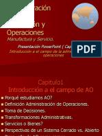 Administración de la operación y producciones