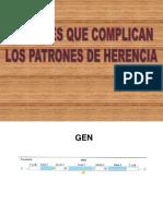FACTORES QUE COMPLICAN LOS PATRONES DE  HERENCIA