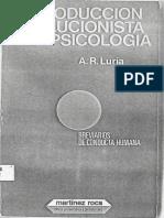 Introducción Evolucionista a La Psicología de a. r. Luria