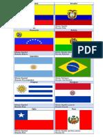 Bandera, Idioma y Moneda de America Del Sur