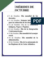 Efemérides de Octubre