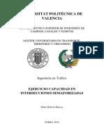 Mario Balseca Ejercicio Capacidad en Intersecciones Semaforizadas