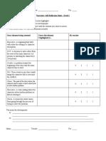 the giver - narrative self-reflection sheet