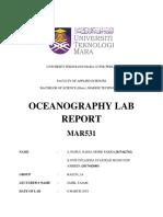 MAR531 Lab Report 1 (LIST OF EQUIPMENTS IN OCEANOGRAPHY)