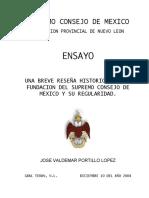 Breve Reseña Historica, De La Fundacion Del Supremo Consejo de Mexico y Su Regularidad Pwv