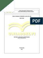 Estudo Asilo Dom Bosco