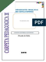 Carpeta Pedagogica Inicial 2018 Isela Nuevo
