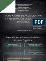 G.O. Acumulacion y Preservacion de MO