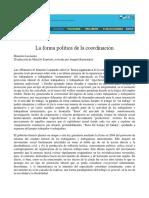 Art - La Forma Política de La Coordinación, LAZZARATO (2004)