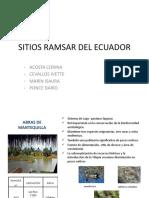 Sitios Ramsar Del Ecuador