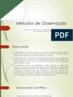 Métodos de Observação