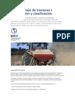 Uso y Manejo de Tractores I