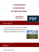 An Introduction to SQL Server for Data Scientists - Gavin Payne.